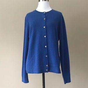 Lands End Cashmere Cardigan Sweater